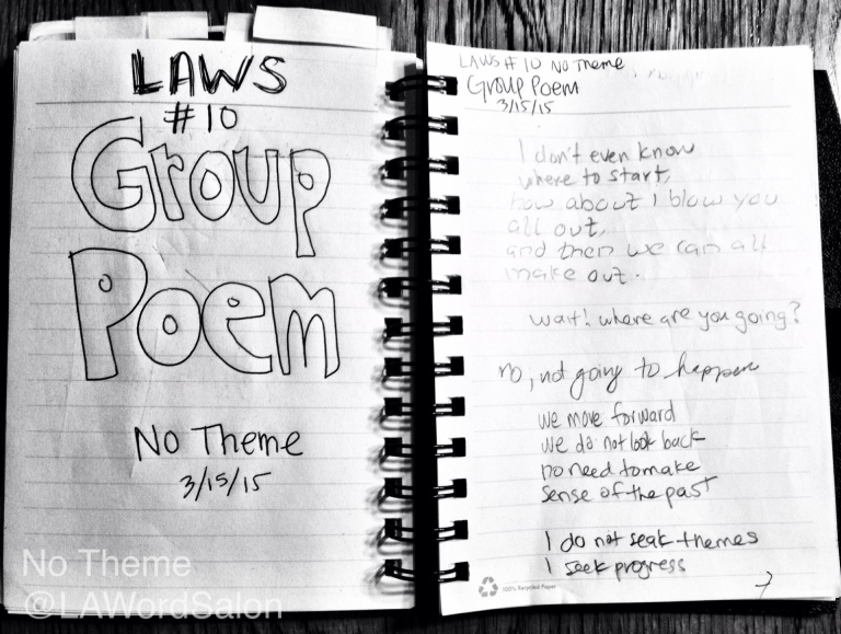 group poem no theme