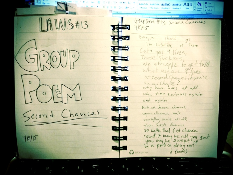 group poem second chances