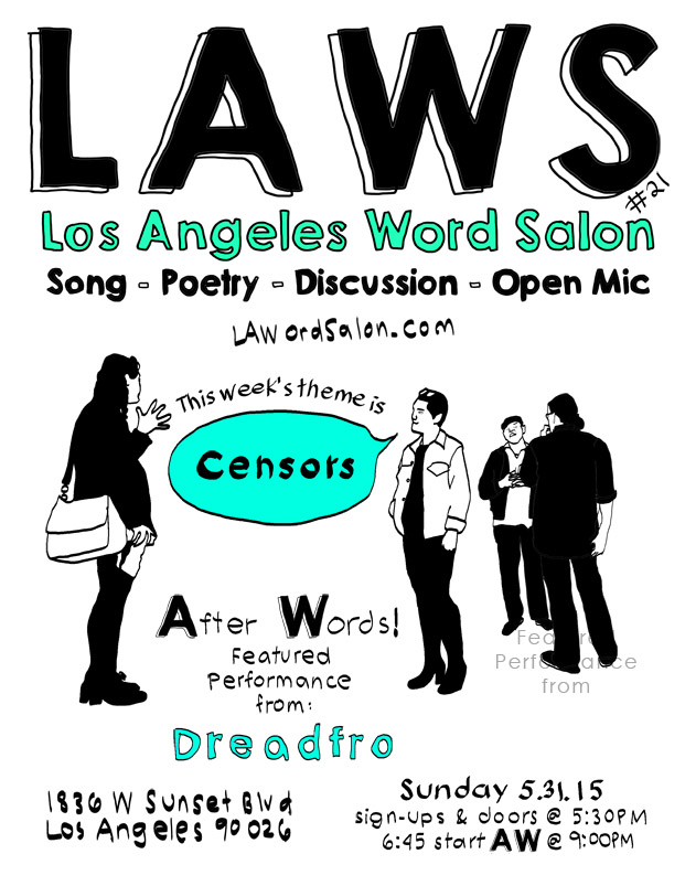 lawordsalon dreadfro echo park flyer