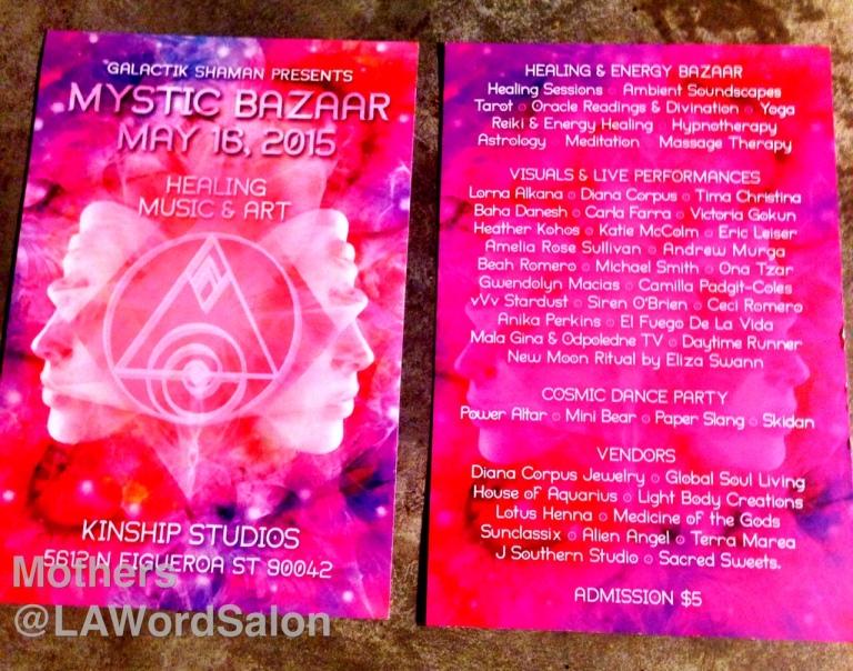 mystic bazaar flyer
