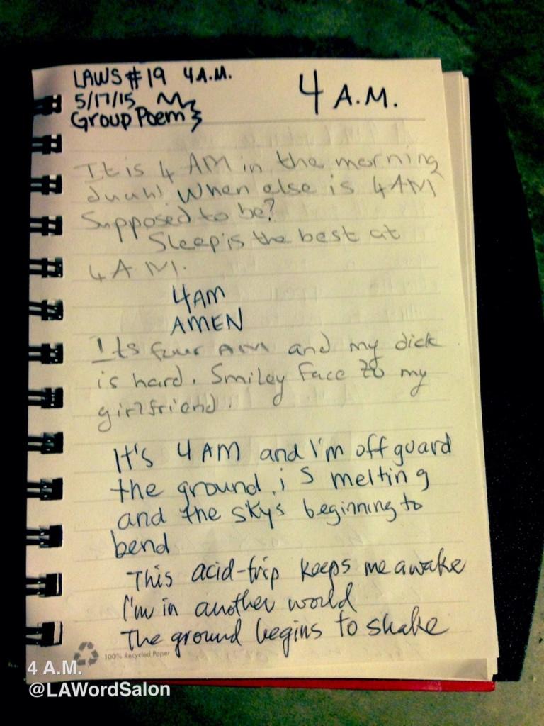 lawordsalon group poem 4am