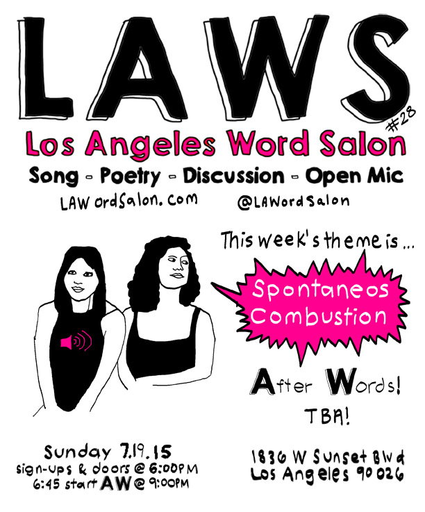 LAWordSalon spontaneous combustion