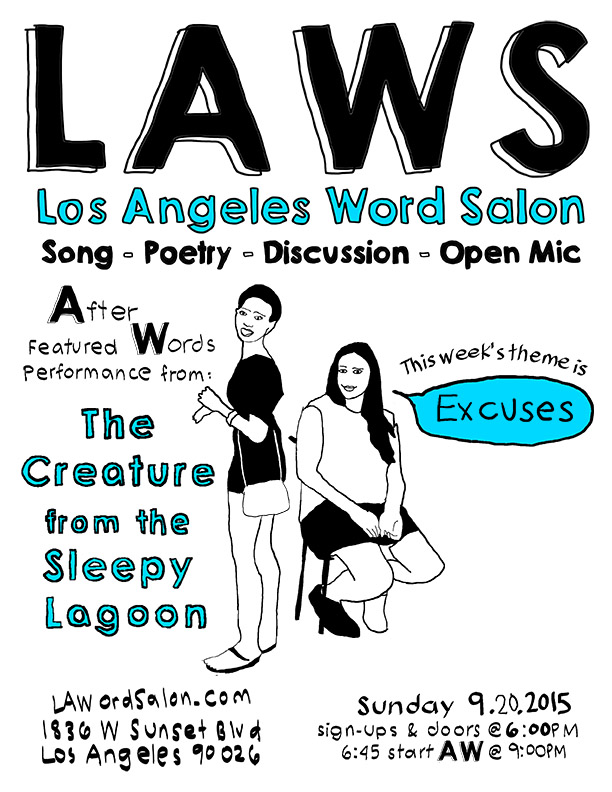 excuses lawordsalon flyer w