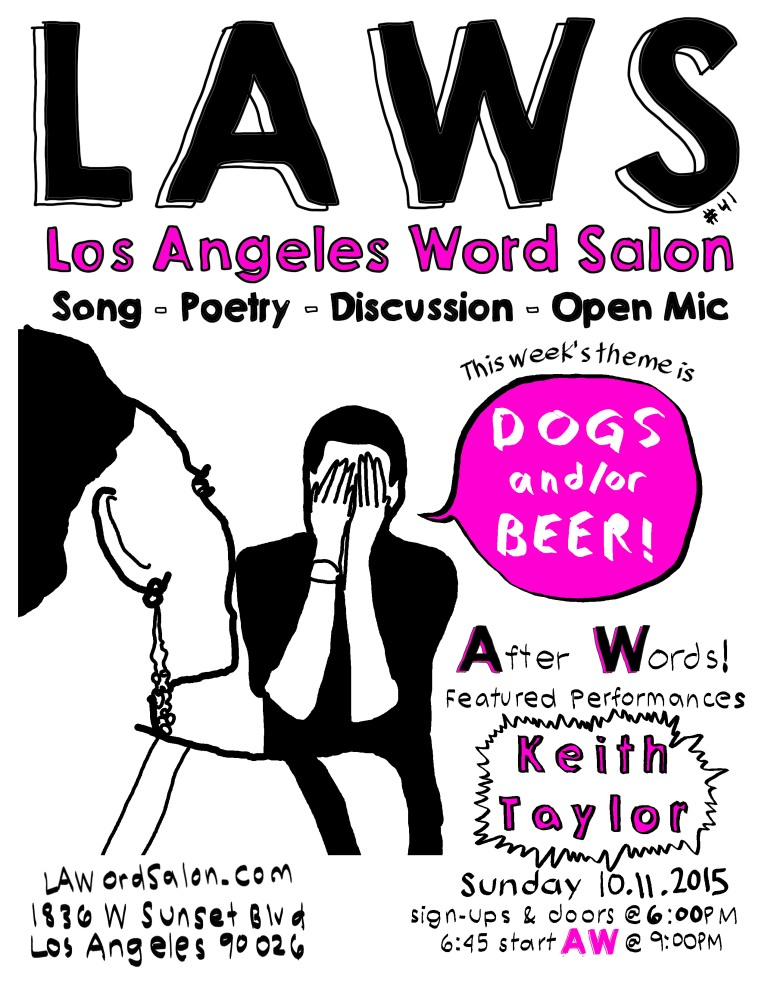 dogs and or beer lawordsalon flyer