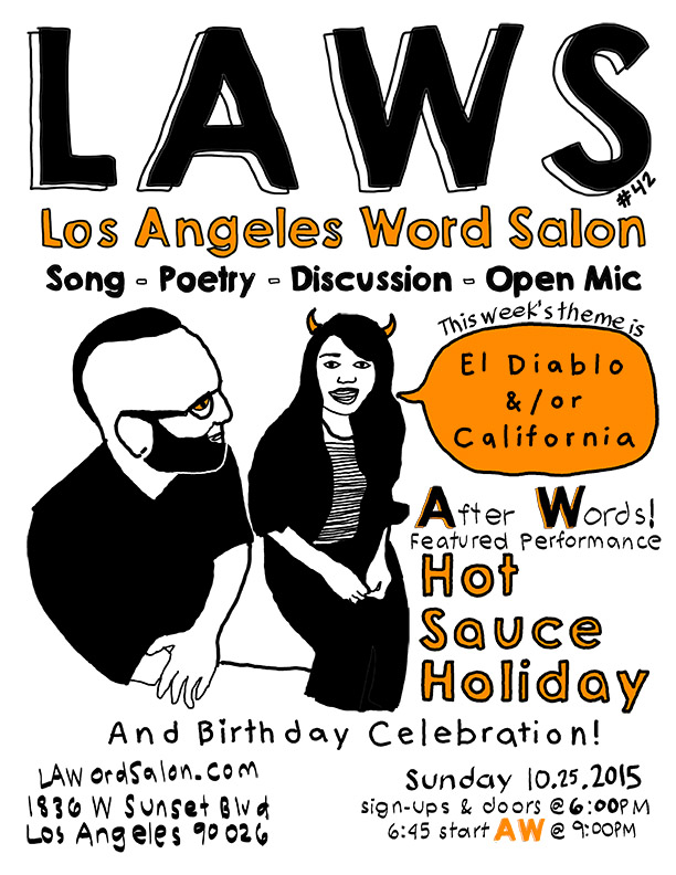 el diablo california lawordsalon flyer w
